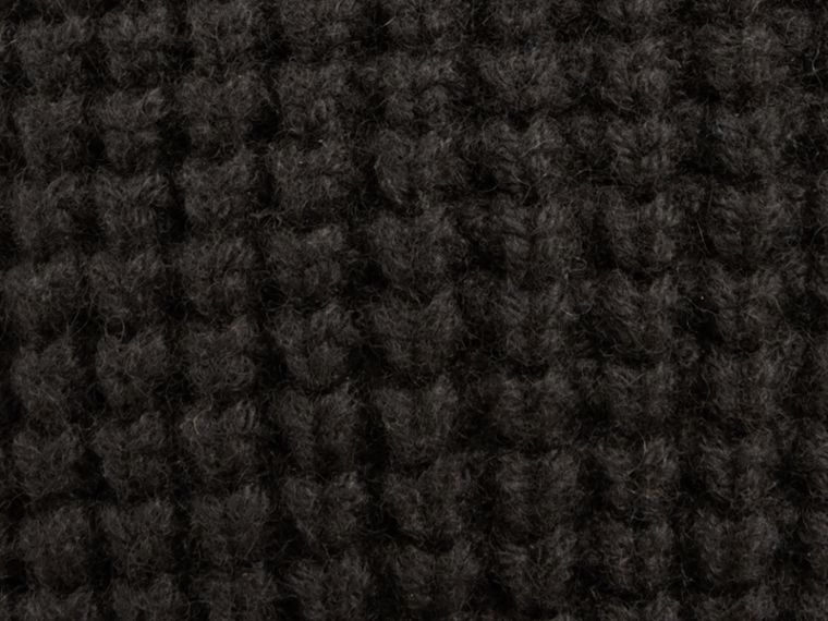 Cashmere Blend Waffle Knit Beanie in Black - Men | Burberry Canada - cell image 1