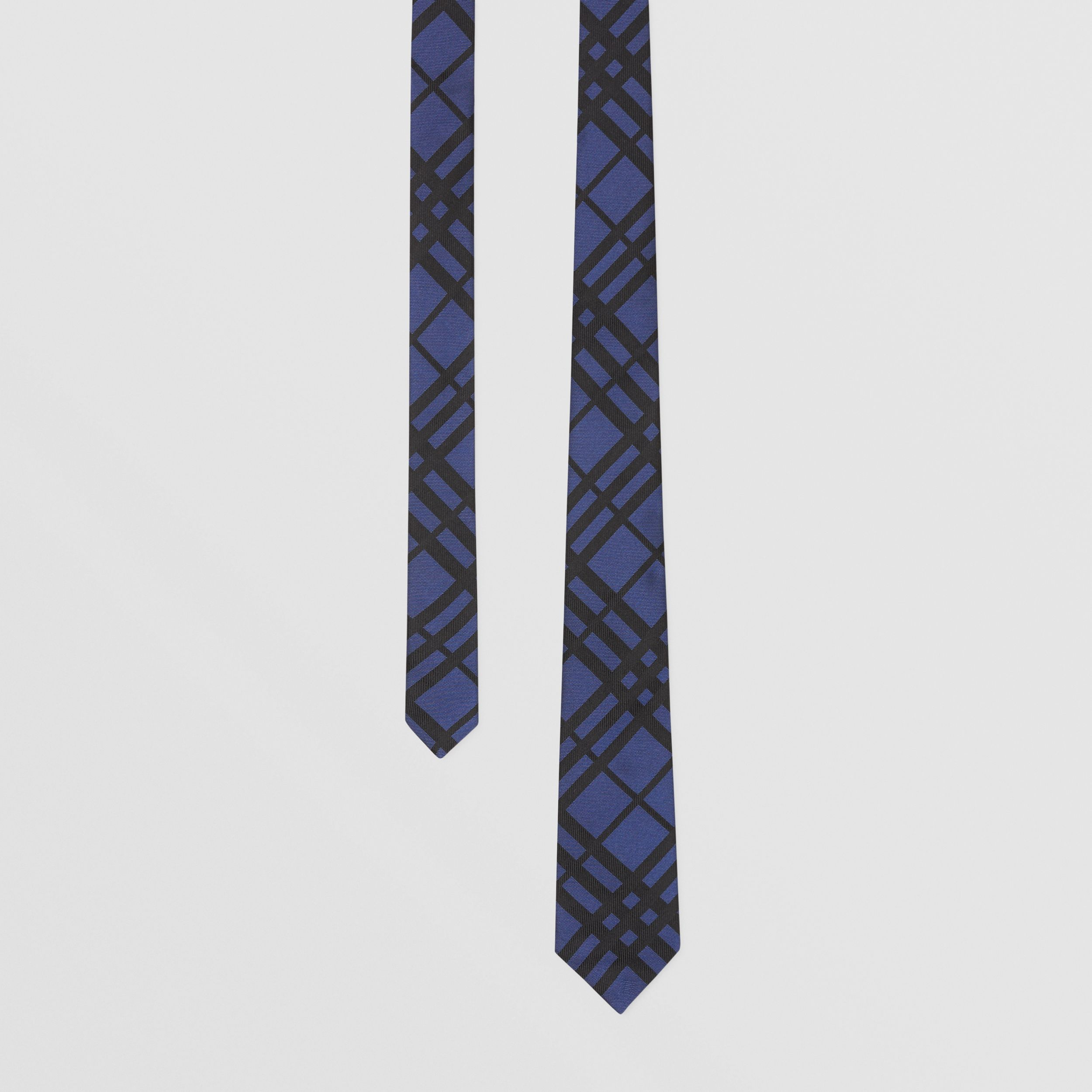 Classic Cut Check Silk Jacquard Tie in Canvas Blue - Men | Burberry - 1