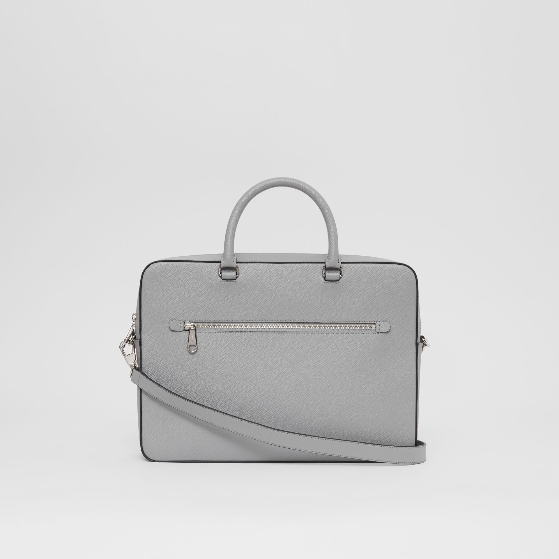 Grainy Leather Briefcase in Cloud Grey - Men | Burberry - gallery image 7