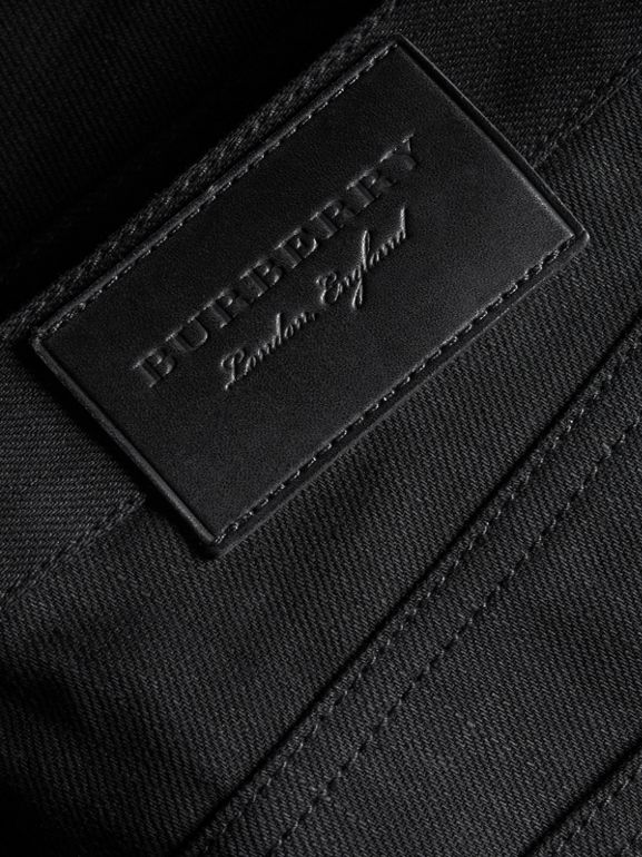 Slim Fit Japanese Denim Jeans in Black - Men | Burberry - cell image 1