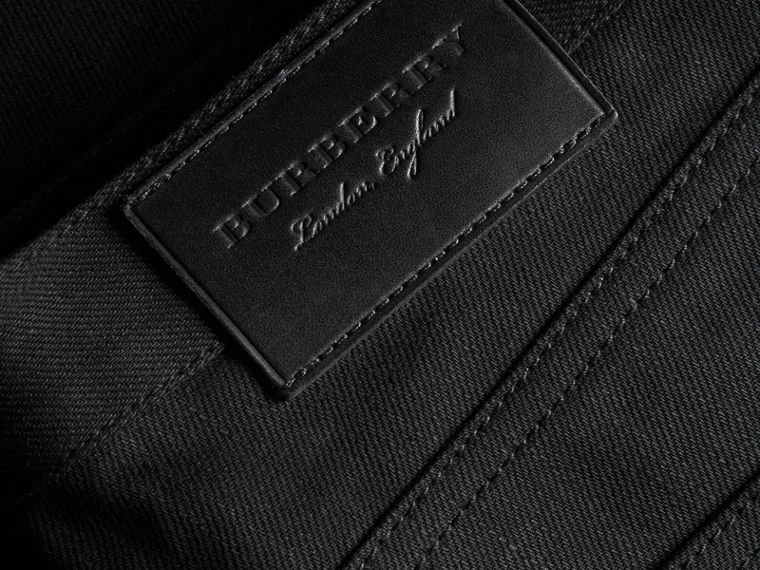 Slim Fit Japanese Denim Jeans in Black - Men | Burberry United Kingdom - cell image 1