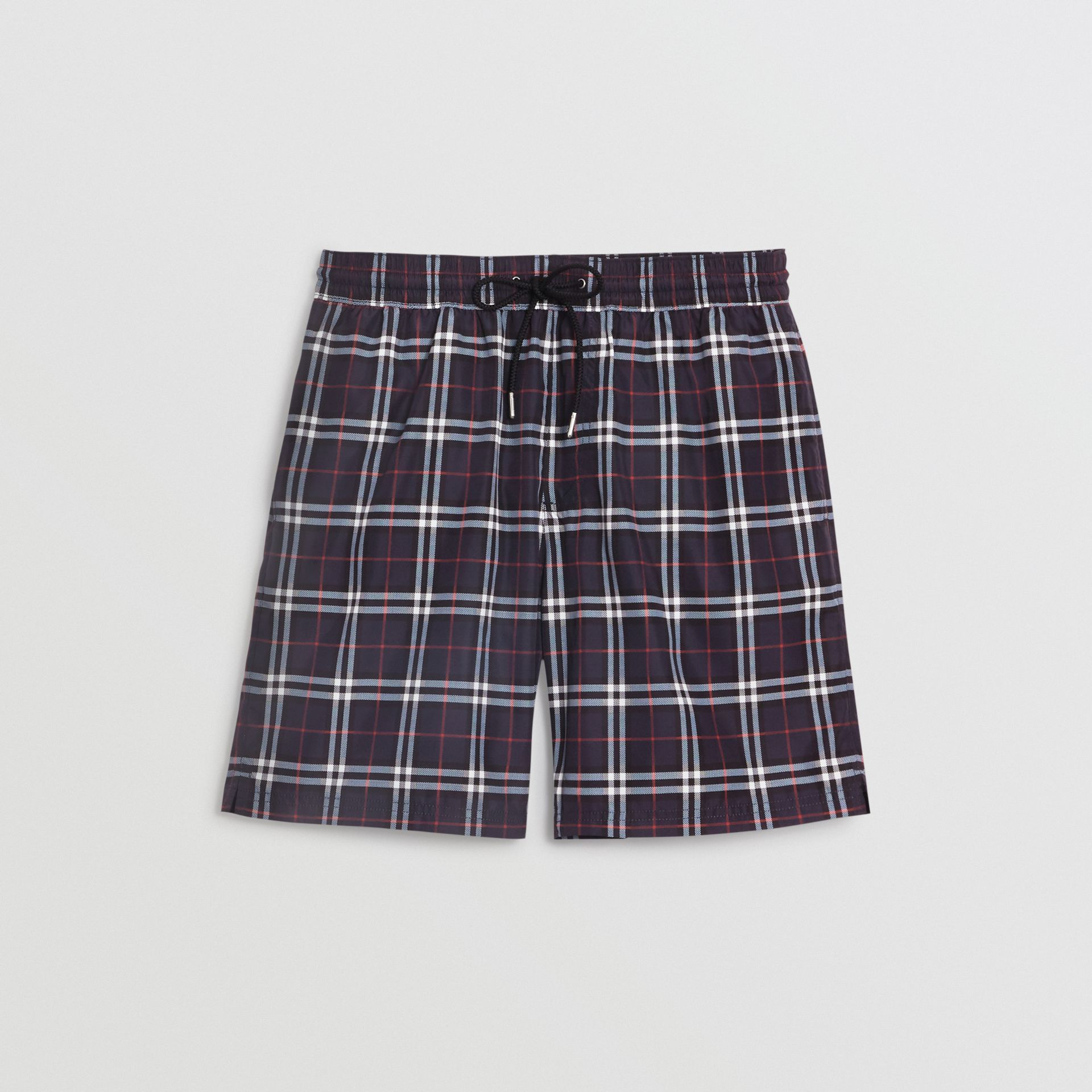 Drawcord Swim Shorts in Navy - Men | Burberry - gallery image 3