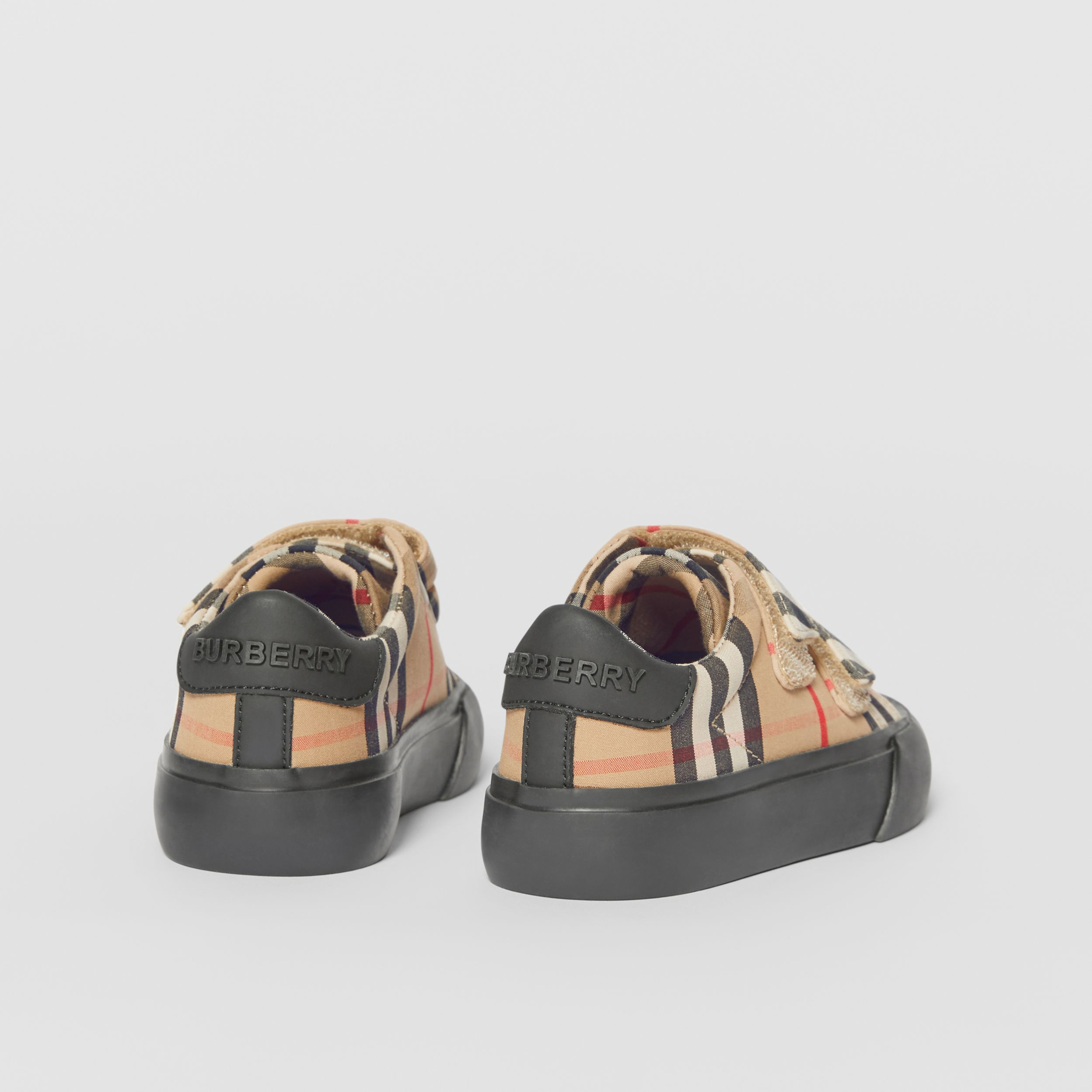 Vintage Check Cotton Sneakers in Archive Beige/black - Children | Burberry Australia - 3