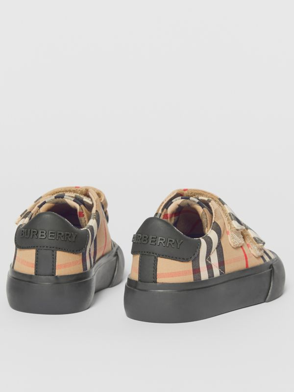 Vintage Check Cotton Sneakers in Archive Beige/black - Children | Burberry United Kingdom - cell image 2