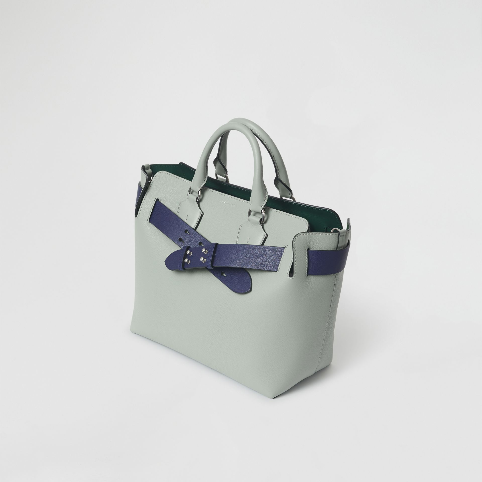 The Medium Leather Belt Bag in Grey Blue - Women | Burberry United Kingdom - gallery image 4