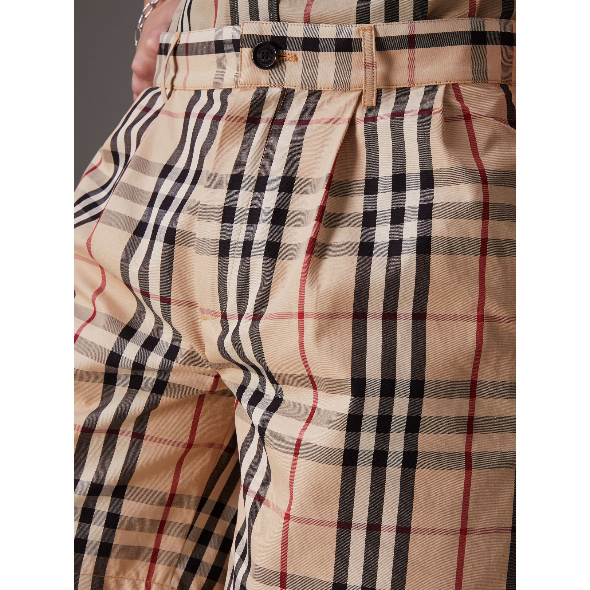 Gosha x Burberry Tailored Shorts in Honey | Burberry - gallery image 1