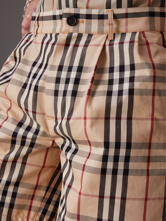 Gosha x Burberry Tailored Shorts in Honey | Burberry United States - cell image 1