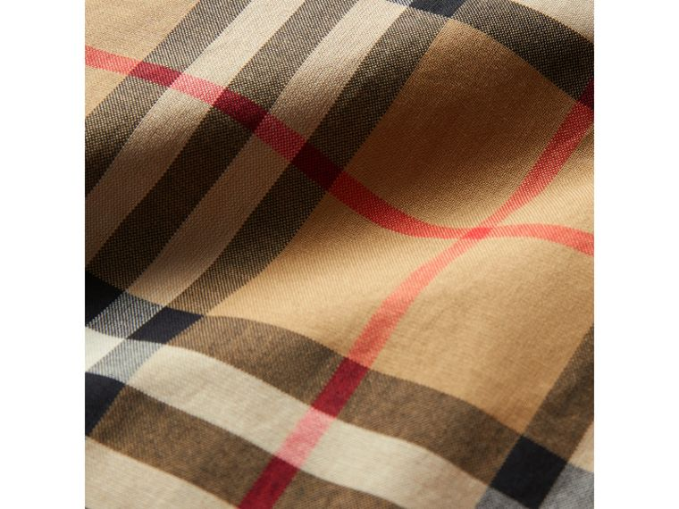 Vintage Check Cotton Tailored Trousers in Antique Yellow - Boy | Burberry United States - cell image 1