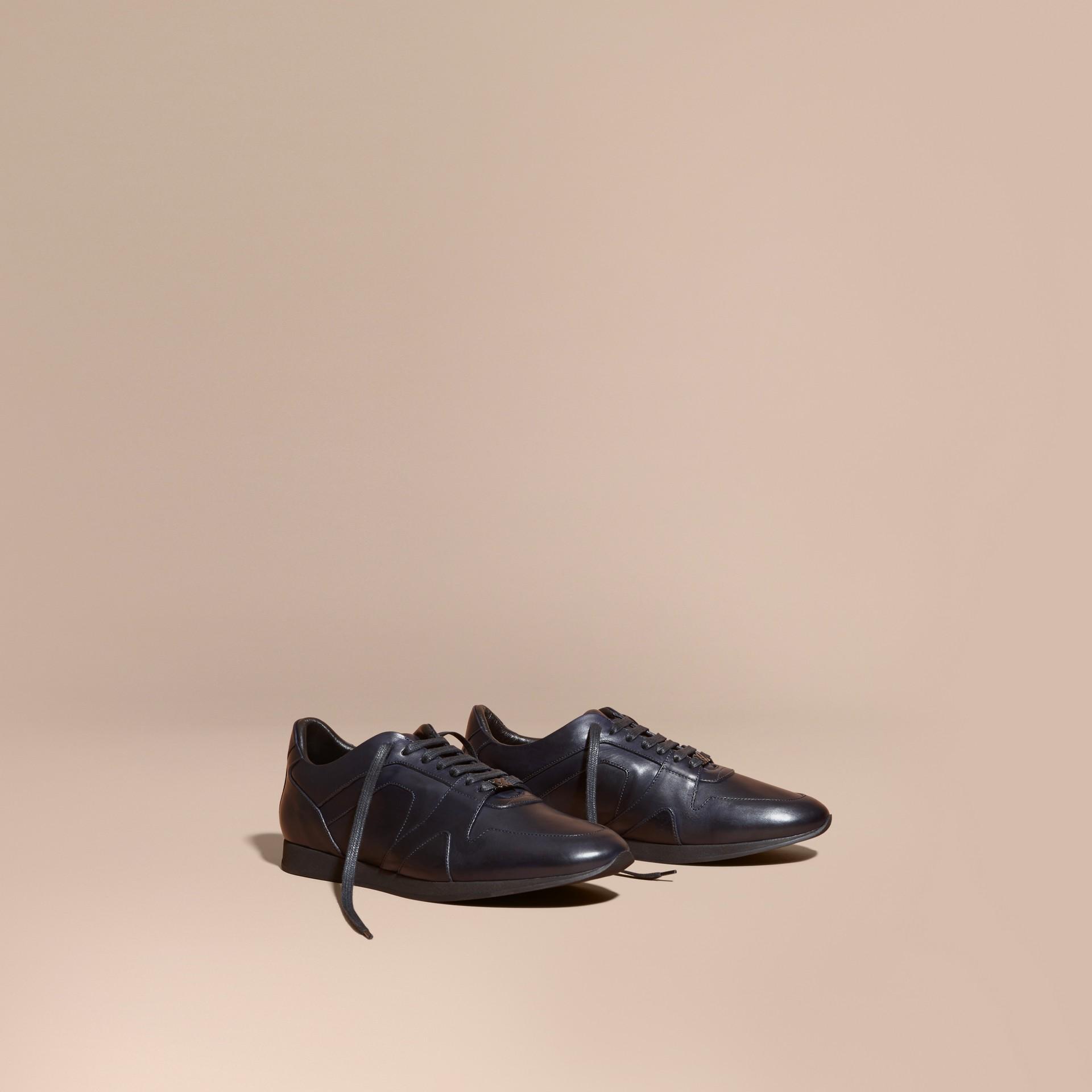 Marineblau The Field Sneaker aus Leder Marineblau - Galerie-Bild 1