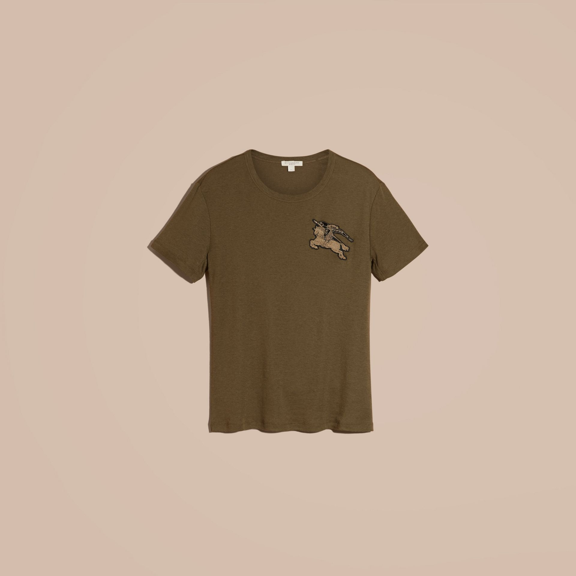Military green Cotton Wool Blend T-shirt Military Green - gallery image 6
