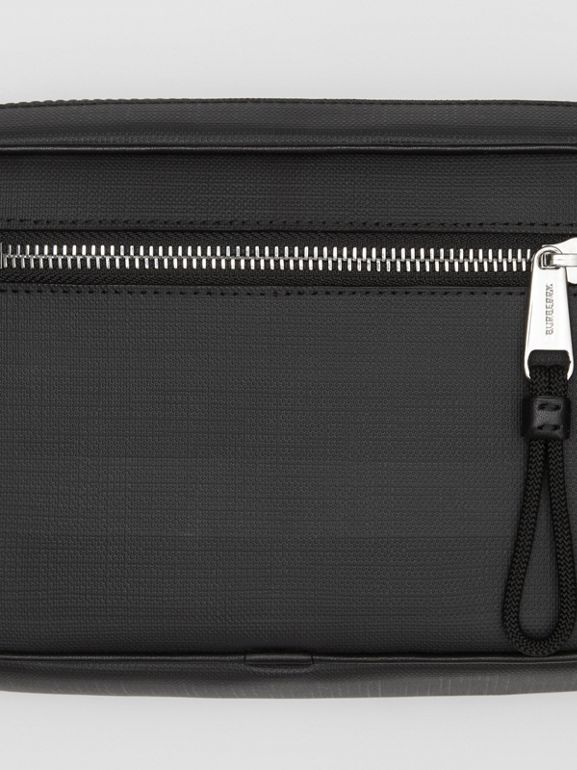 London Check and Leather Bum Bag in Dark Charcoal - Men | Burberry - cell image 1
