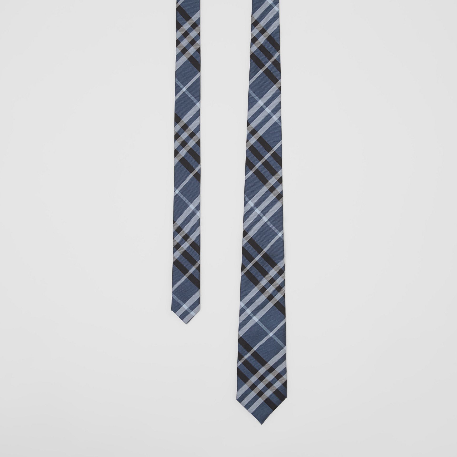 Classic Cut Vintage Check Silk Tie in Steel Blue - Men | Burberry - gallery image 0
