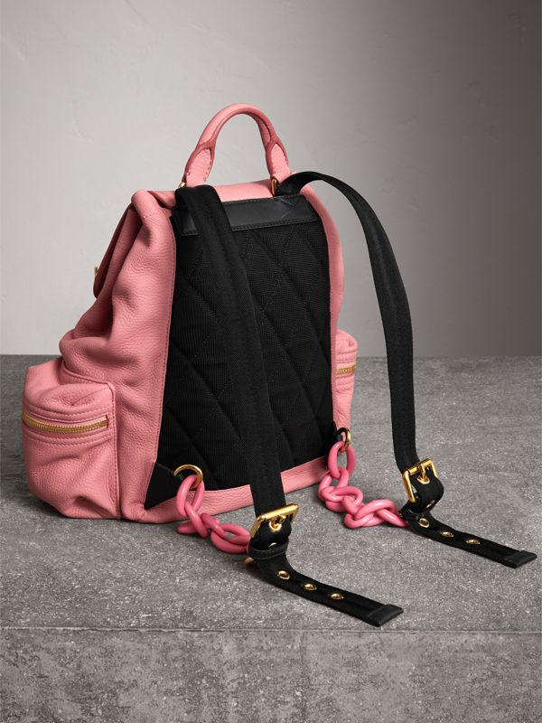 The Medium Rucksack in Deerskin with Resin Chain in Blossom Pink - Women | Burberry - cell image 3