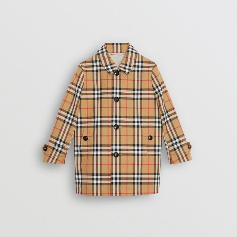Burberry - Paletot en coton à motif Vintage check - 1