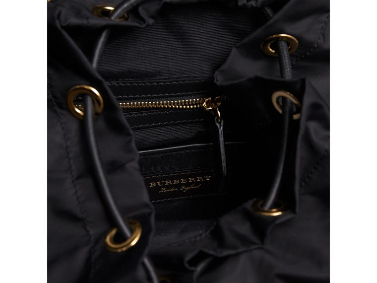 The Medium Rucksack in Two-tone Nylon and Leather in Black/gold - Women | Burberry - cell image 4