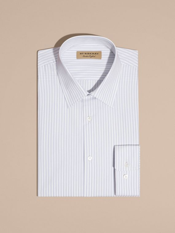 City blue Modern Fit Striped Cotton Shirt City Blue - cell image 3