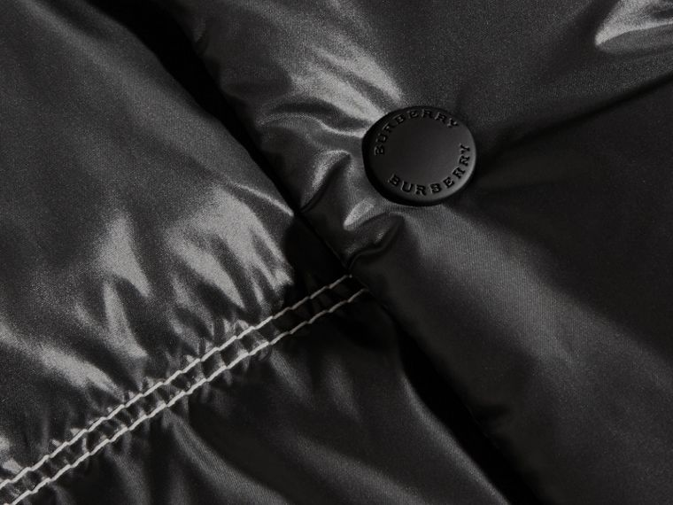 Noir Doudoune longue rembourrée en duvet - cell image 1