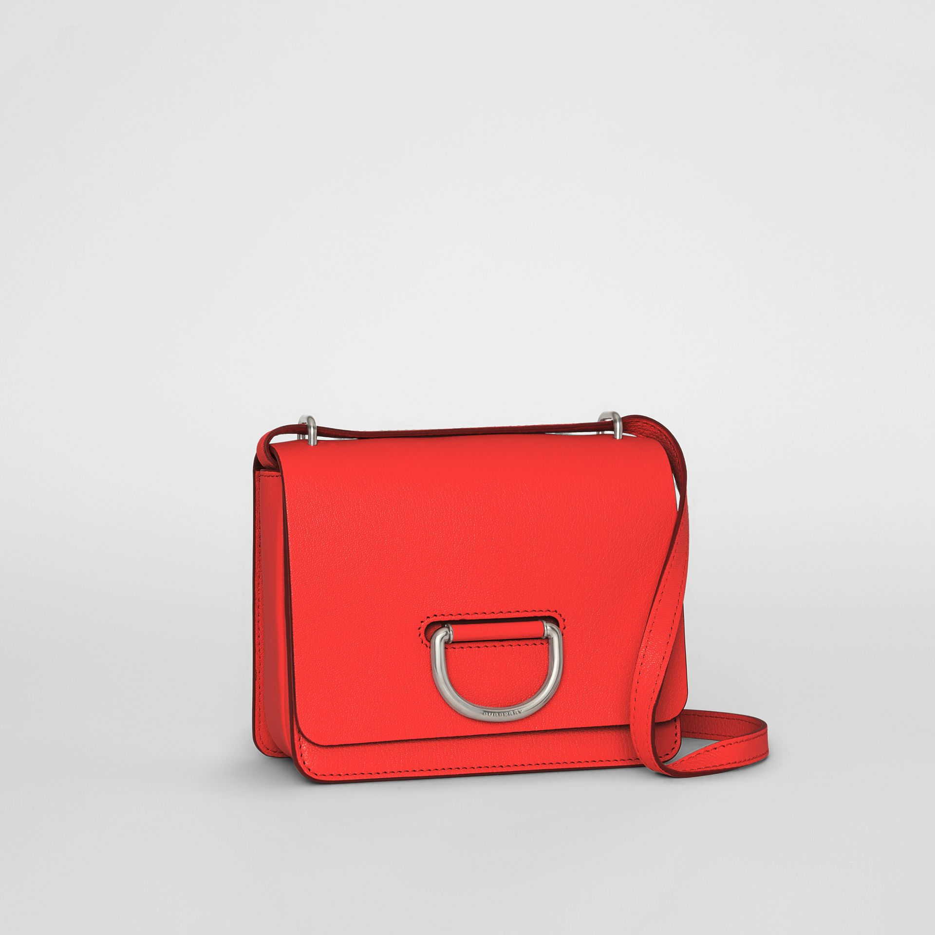 The Small Leather D-ring Bag in Bright Red - Women | Burberry United Kingdom - gallery image 6