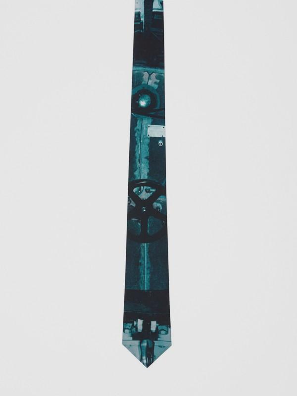 Classic Cut Submarine Print Silk Tie in Deep Teal - Men | Burberry Australia - cell image 3