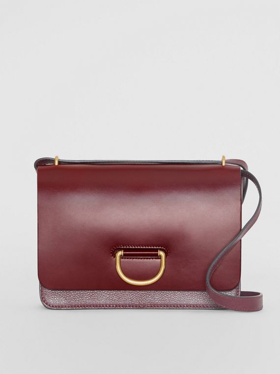 Sac The D-ring moyen en cuir (Bordeaux Intense)