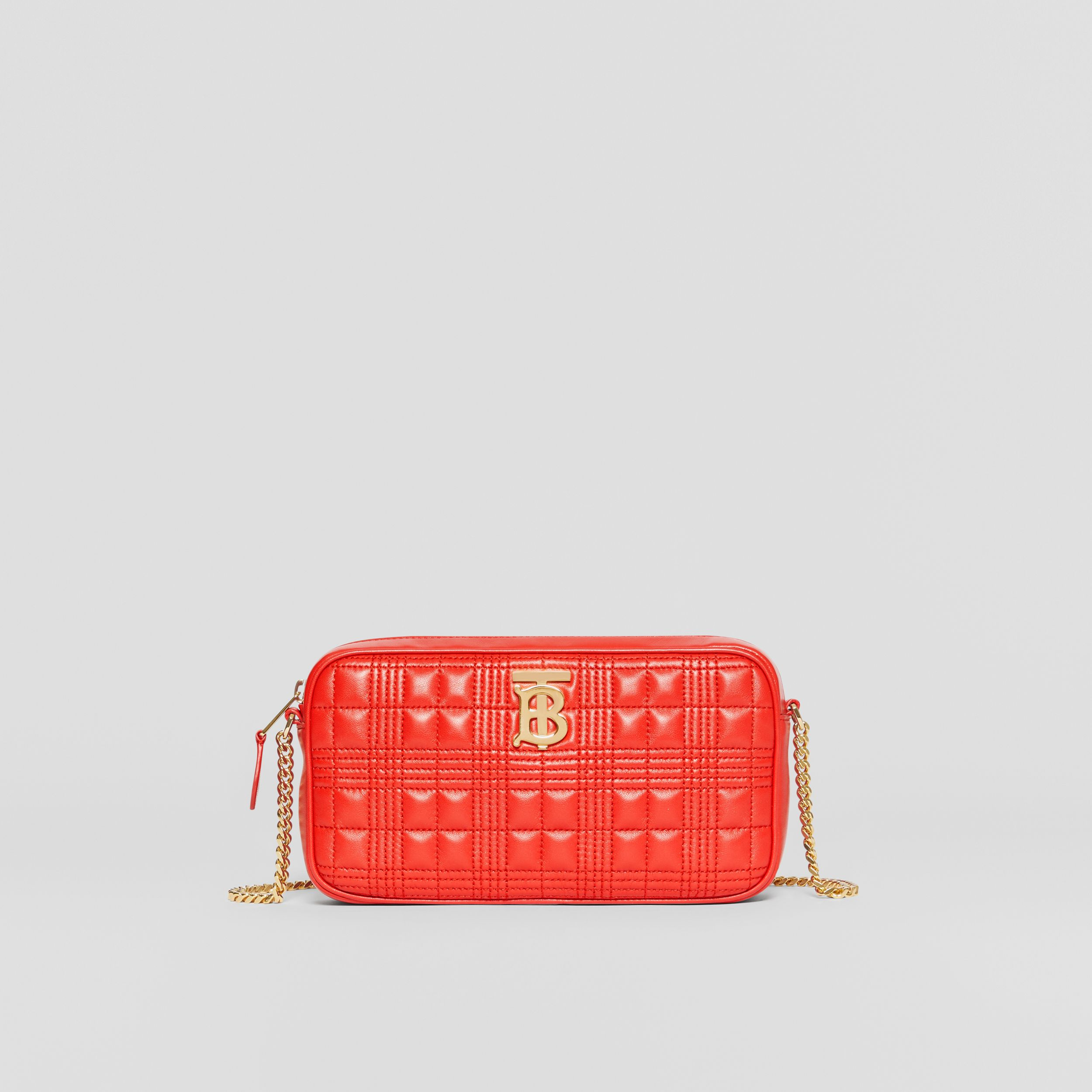 Quilted Lambskin Camera Bag in Bright Red - Women | Burberry - 1