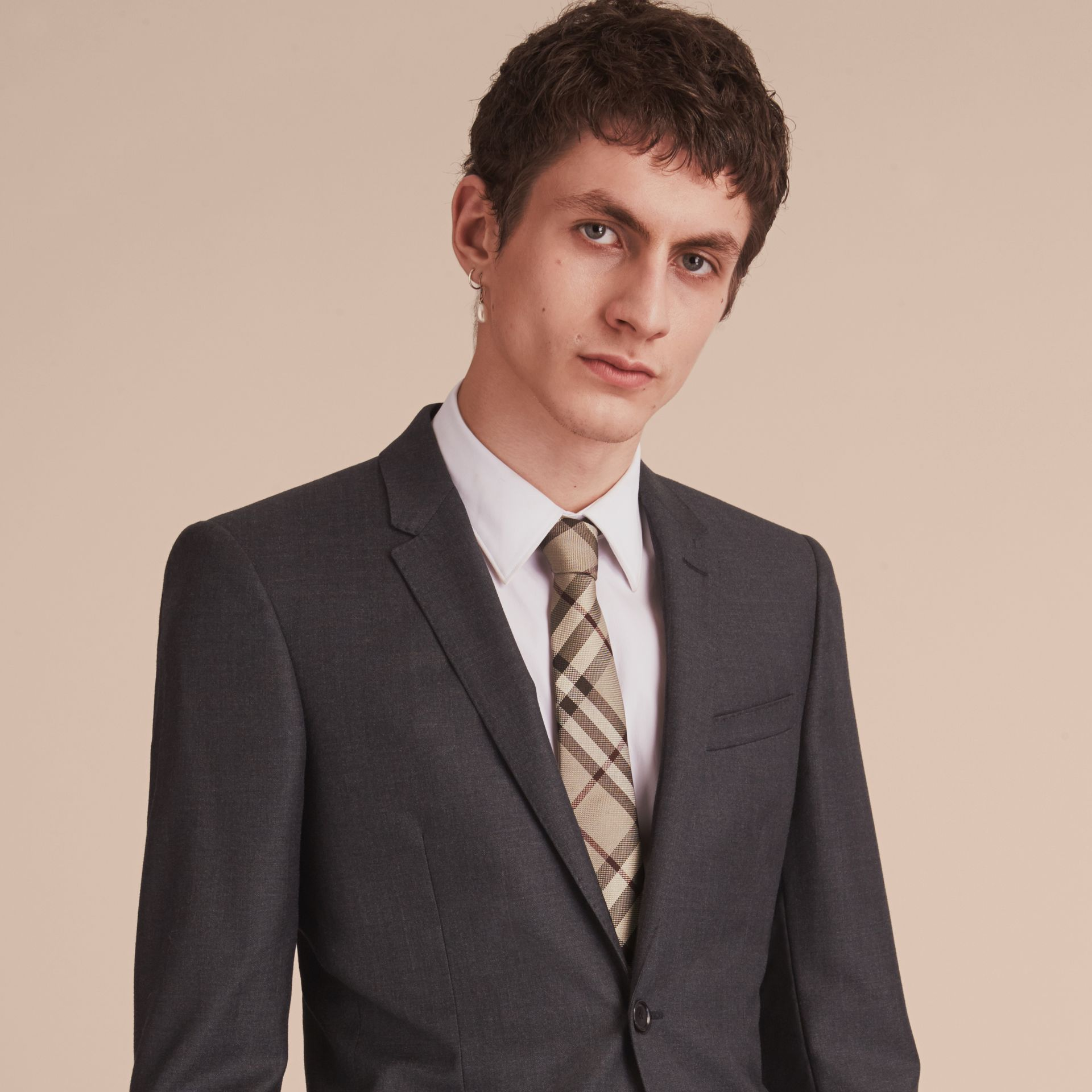 Modern Cut Check Silk Tie - Men | Burberry Hong Kong - gallery image 3