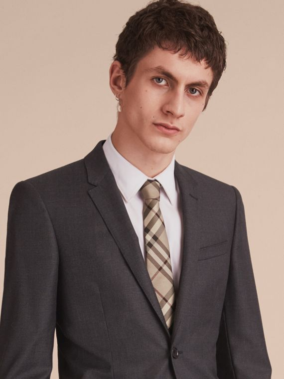 Modern Cut Check Silk Tie - Men | Burberry - cell image 2