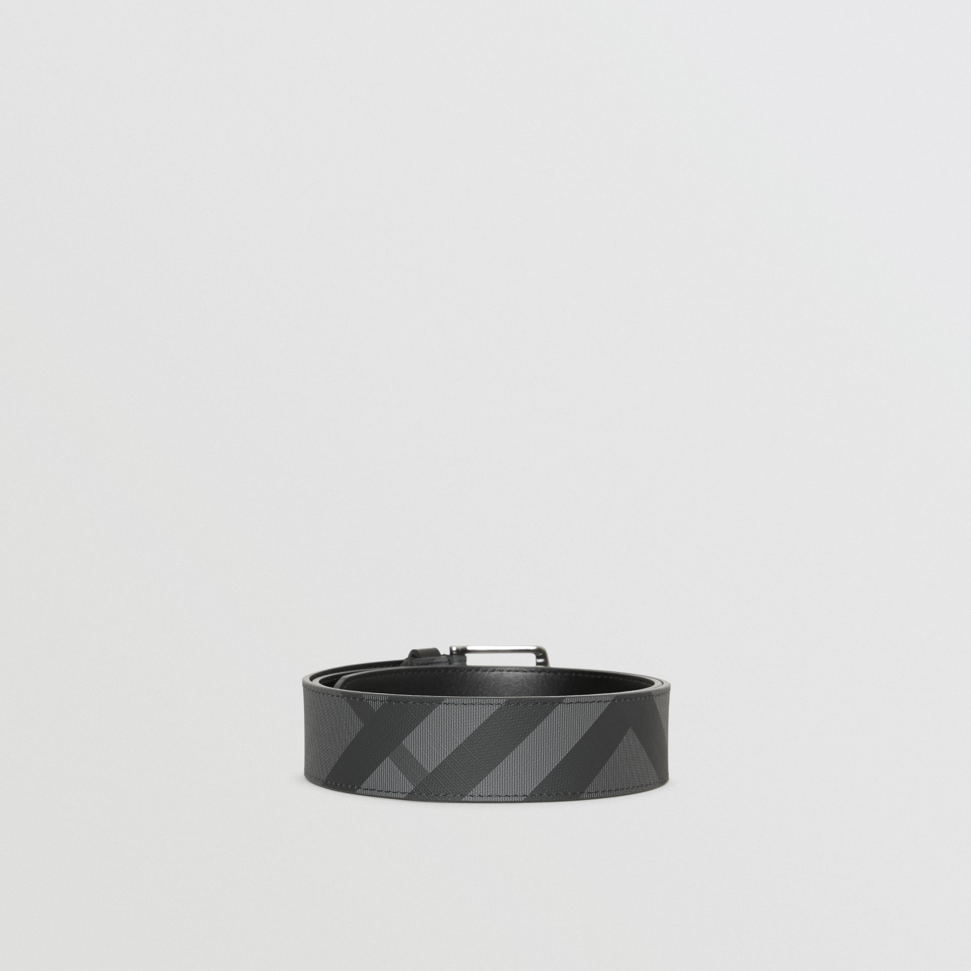 London Check Belt in Charcoal/black - Men | Burberry - gallery image 4