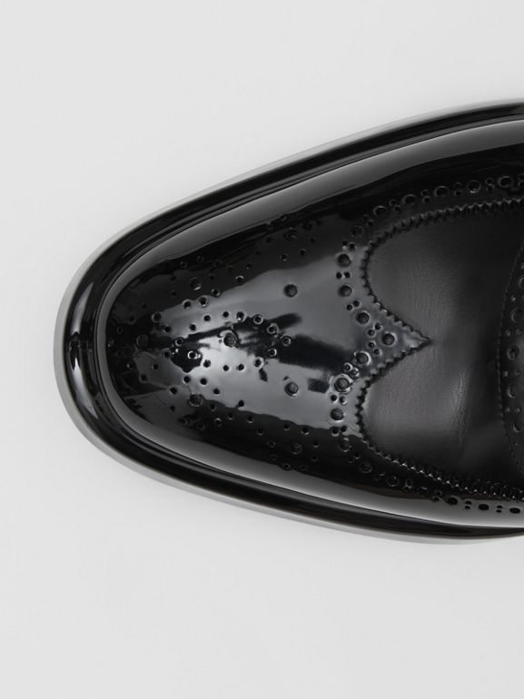 Toe Cap Detail Leather Oxford Brogues in Black - Men | Burberry United Kingdom - cell image 1