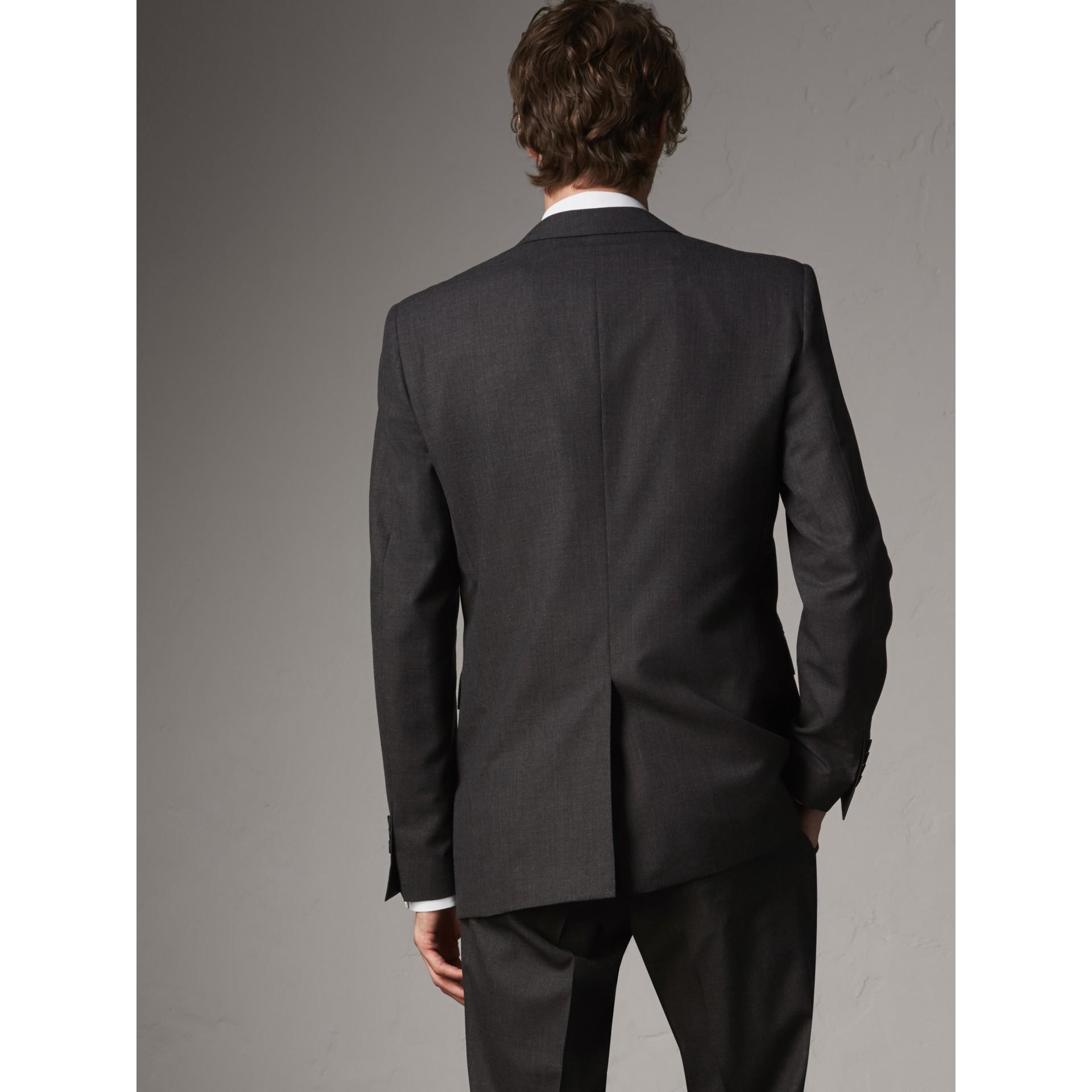 Modern geschnittener Part-Canvas-Anzug aus Wolle (Anthrazitfarben) - Herren | Burberry - Galerie-Bild 3