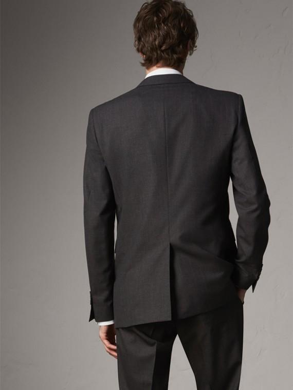 Modern geschnittener Part-Canvas-Anzug aus Wolle (Anthrazitfarben) - Herren | Burberry - cell image 2