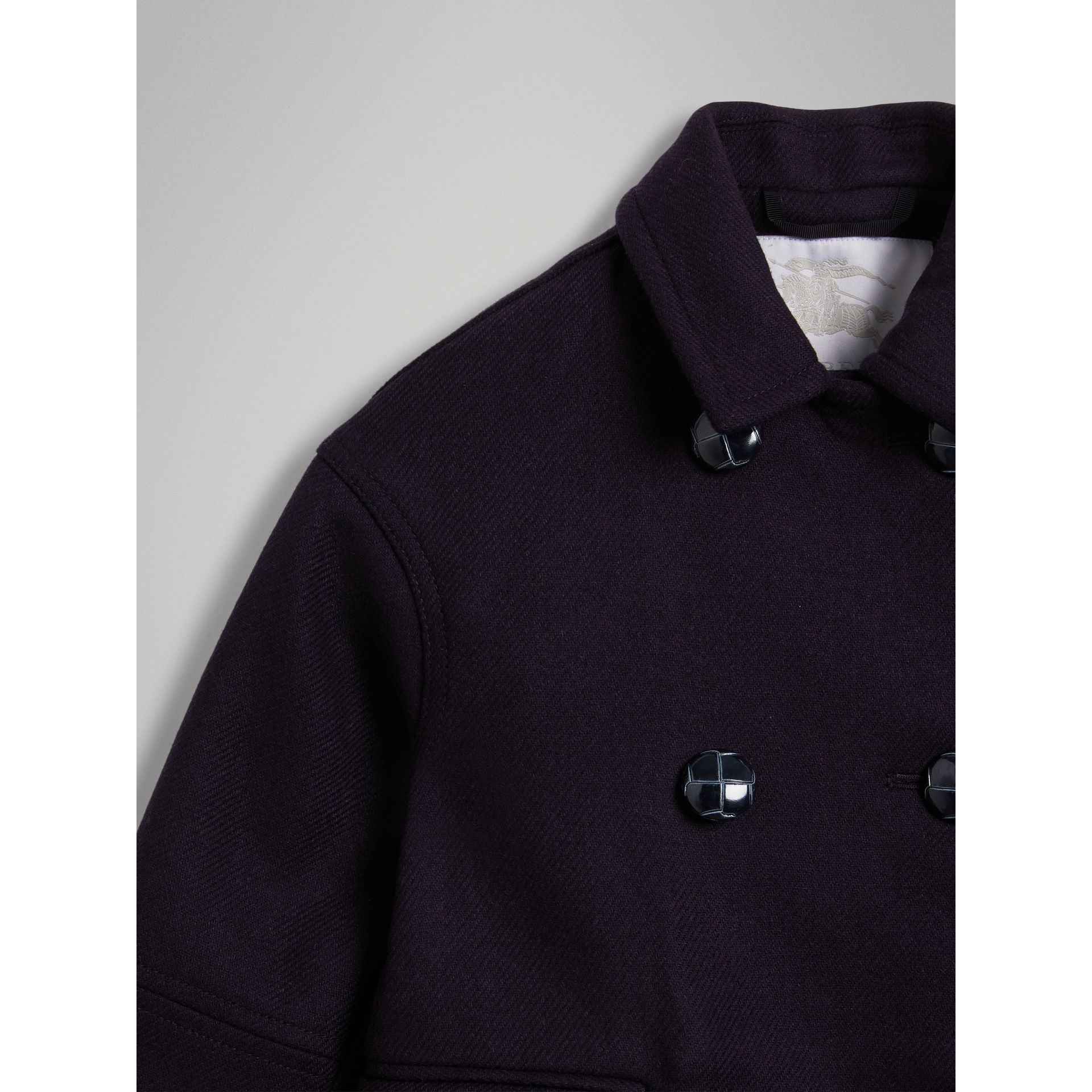 Double-faced Wool Pea Coat in Navy | Burberry Canada - gallery image 6