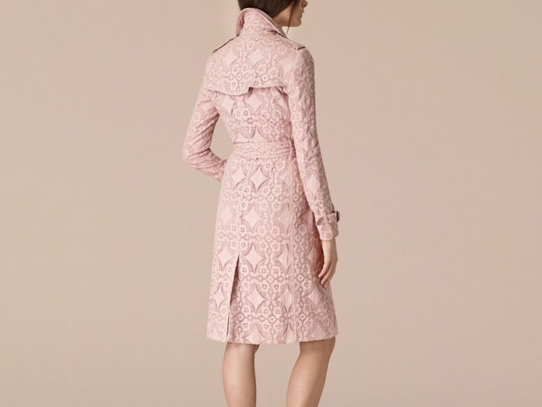 Thistle pink Gabardine Lace Trench Coat Thistle Pink - cell image 1
