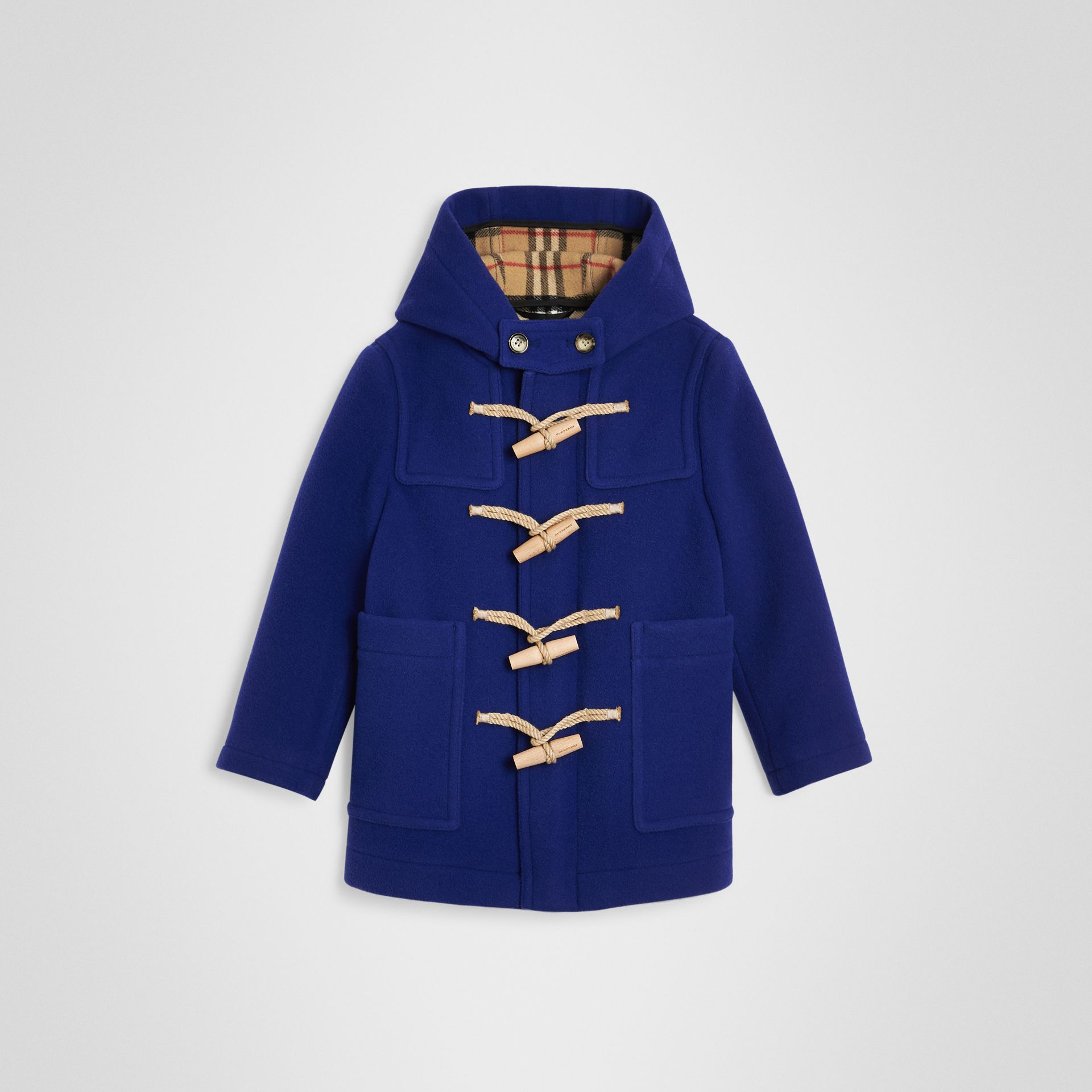 Double-faced Wool Duffle Coat in Brilliant Blue | Burberry - gallery image 0