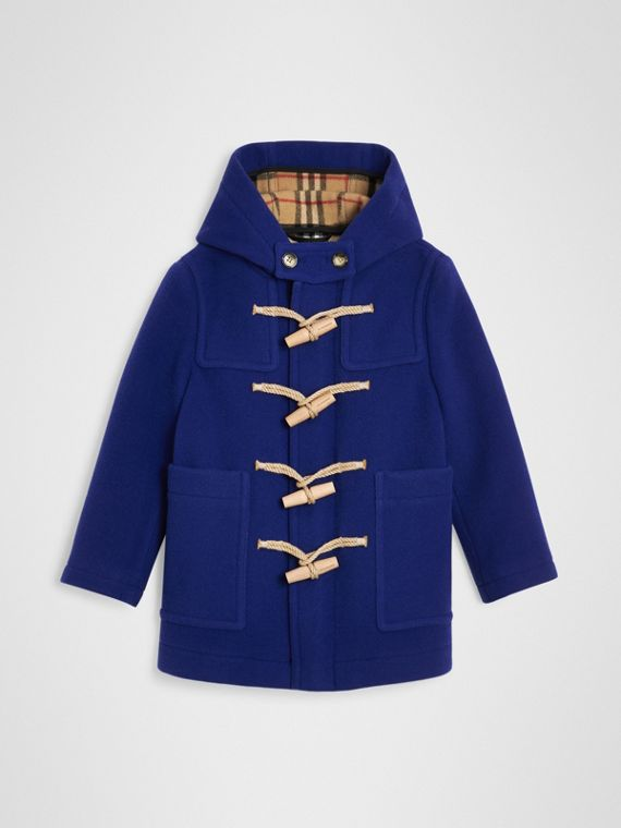Double-faced Wool Duffle Coat in Brilliant Blue