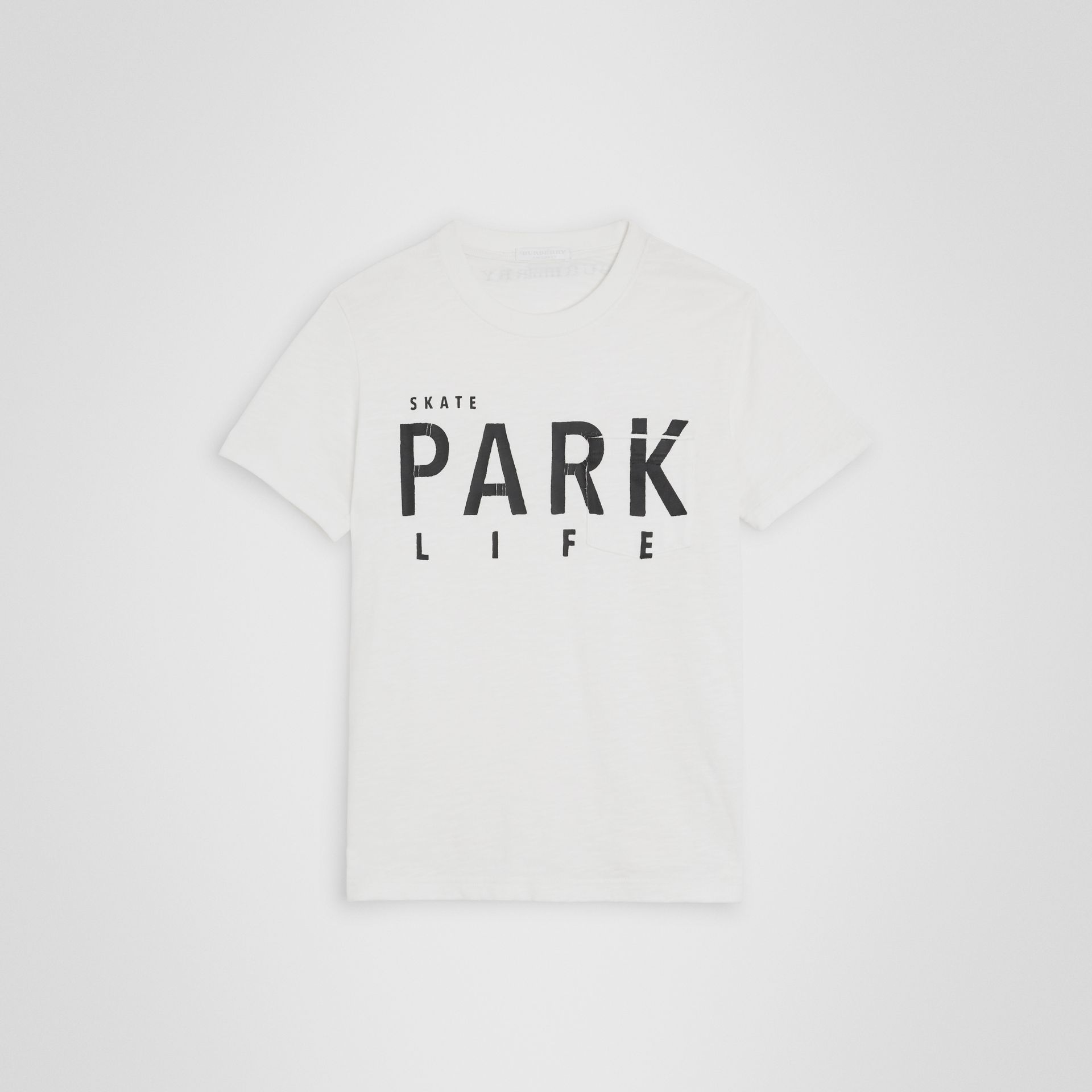 Skate Park Life Cotton T-shirt in White | Burberry - gallery image 0