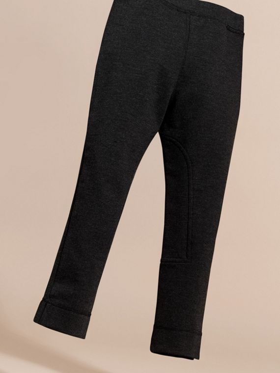 Mid grey melange Stretch Leggings with Zip Pockets - cell image 3