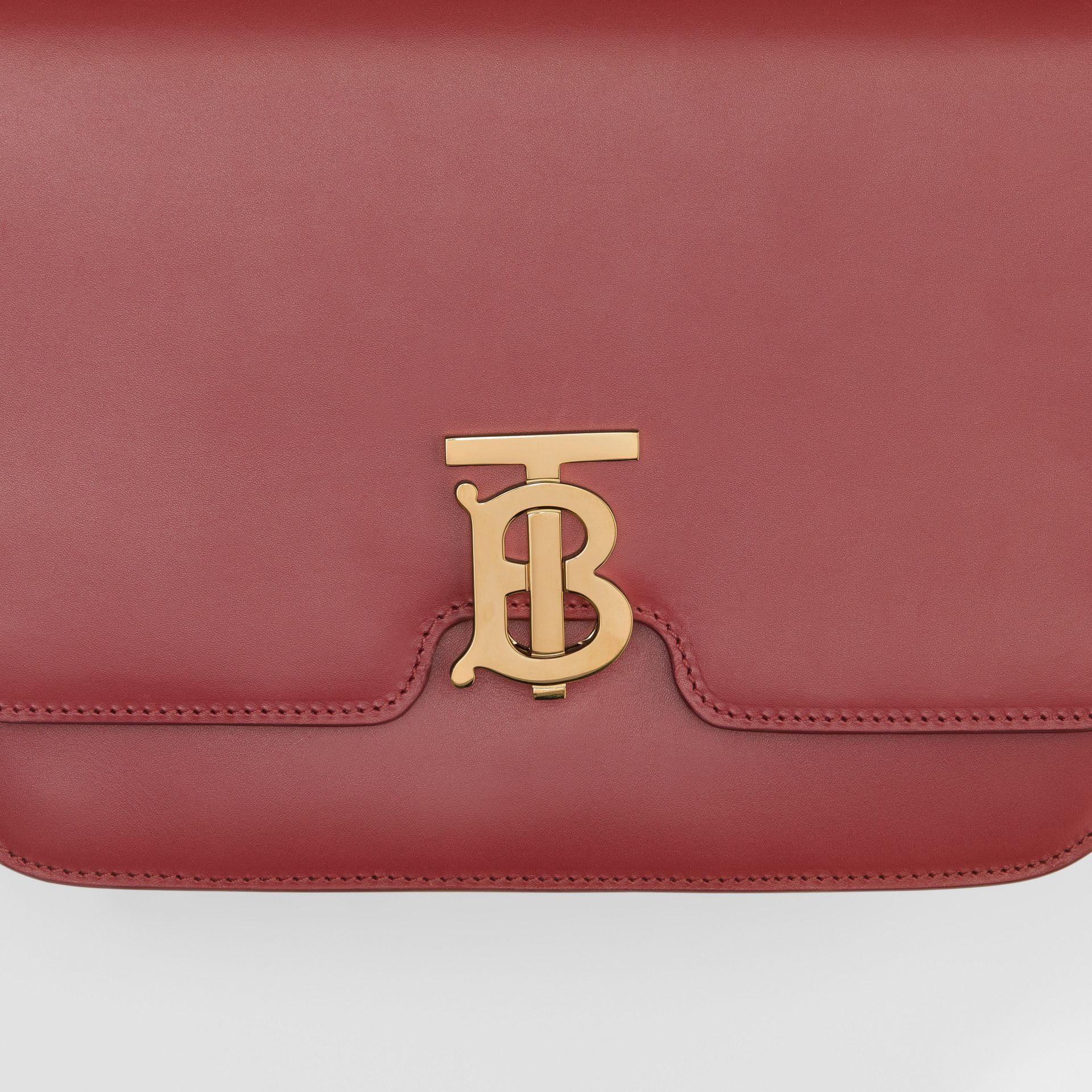 Medium Leather TB Bag in Crimson - Women | Burberry United Kingdom - gallery image 1