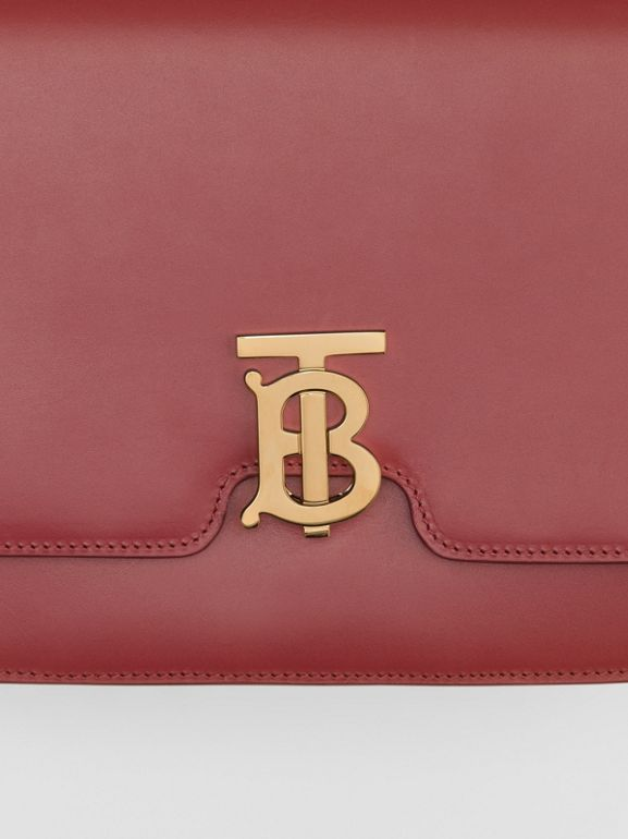 Borsa TB media in pelle (Cremisi) - Donna | Burberry - cell image 1