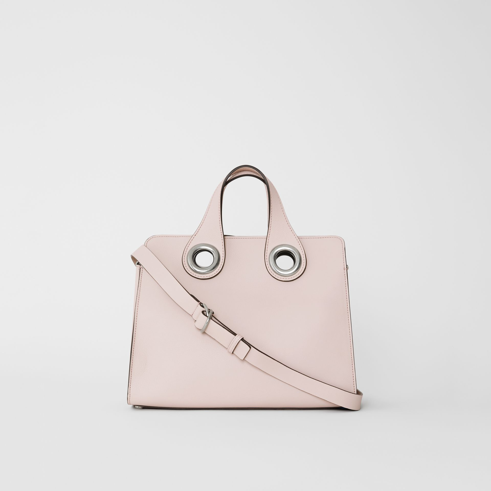 The Leather Crest Grommet Detail Tote in Chalk Pink - Women | Burberry - gallery image 7