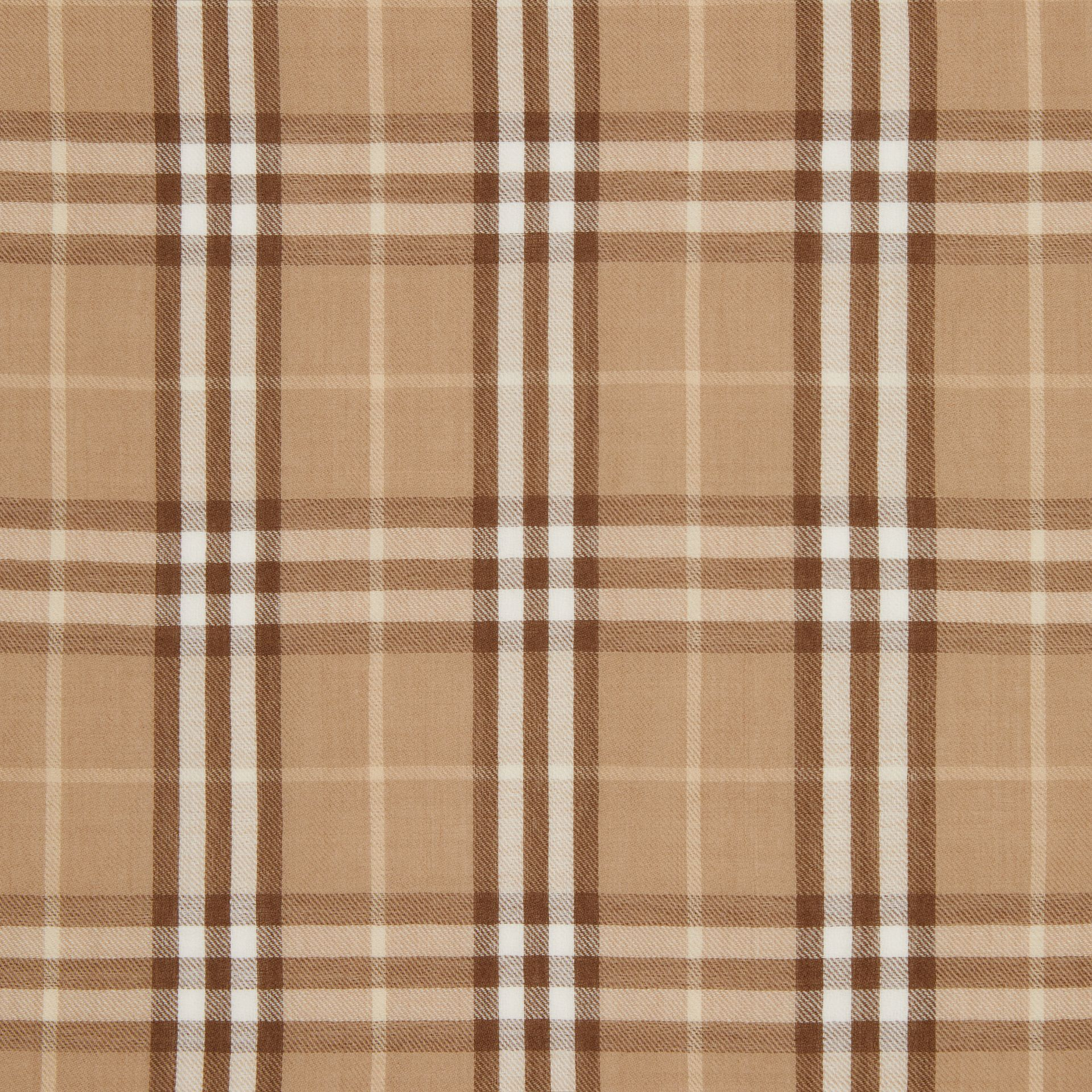 Vintage Check Lightweight Cashmere Scarf in Mid Camel | Burberry United Kingdom - gallery image 1