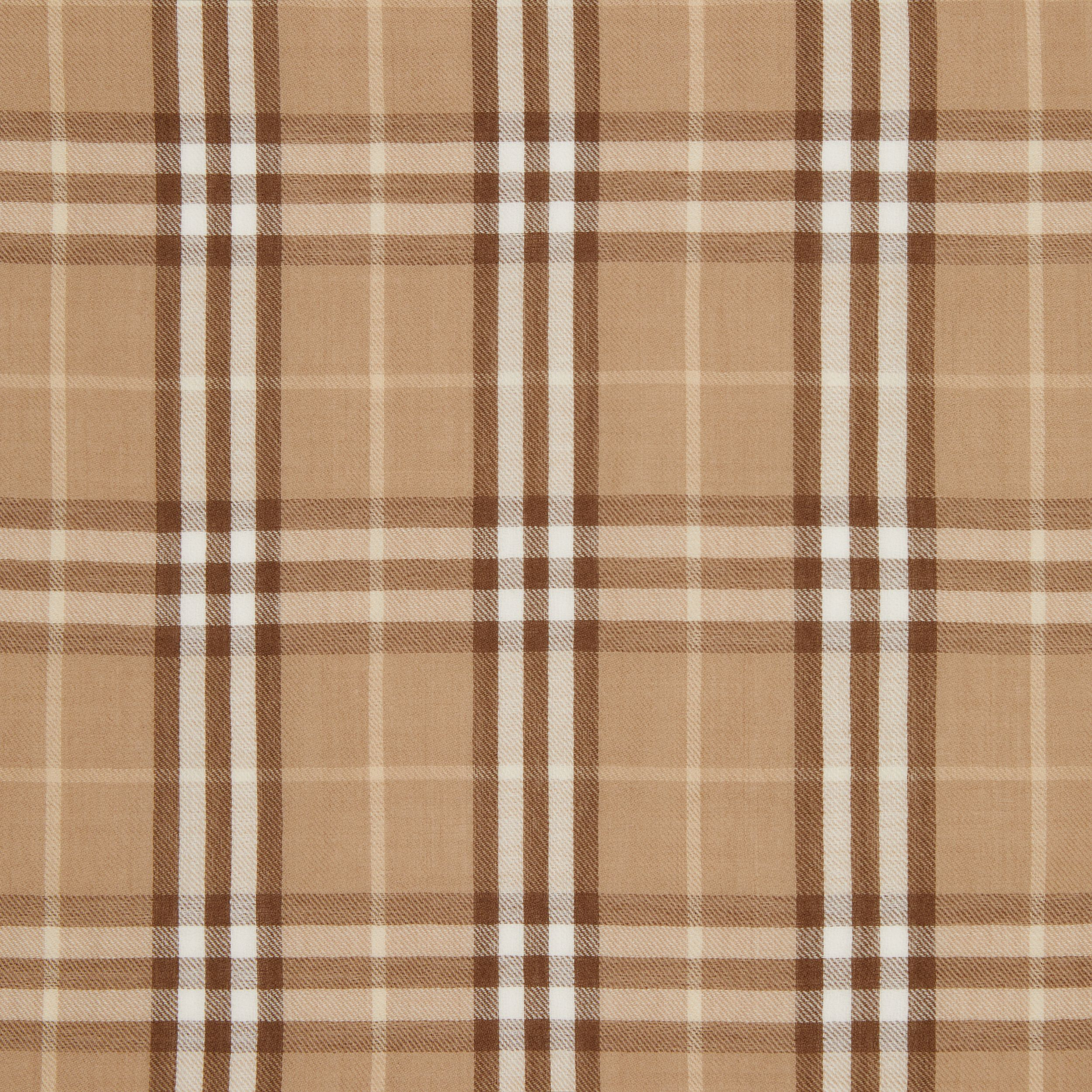 Vintage Check Lightweight Cashmere Scarf in Mid Camel | Burberry - 2