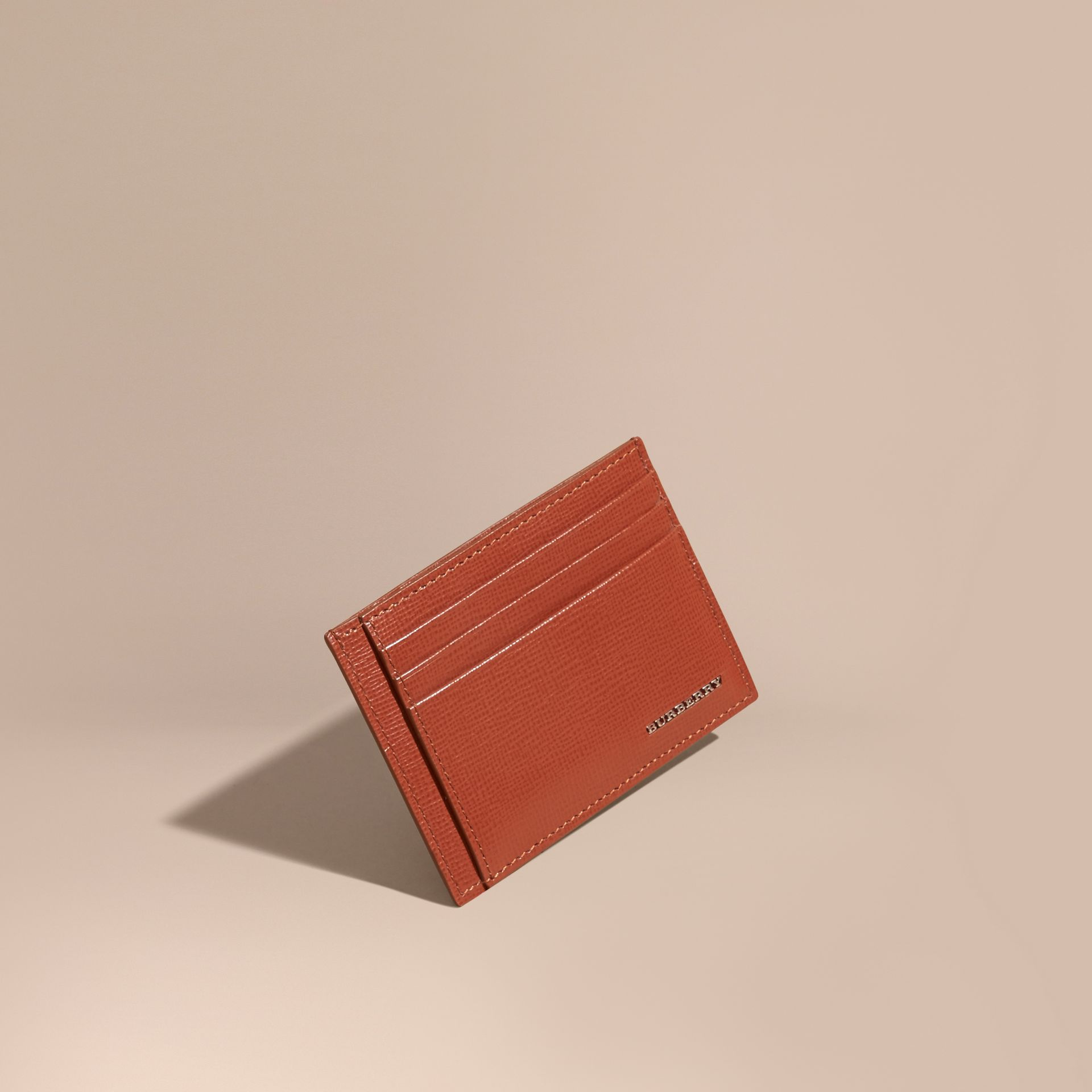 London Leather Card Case Burnt Sienna - gallery image 1