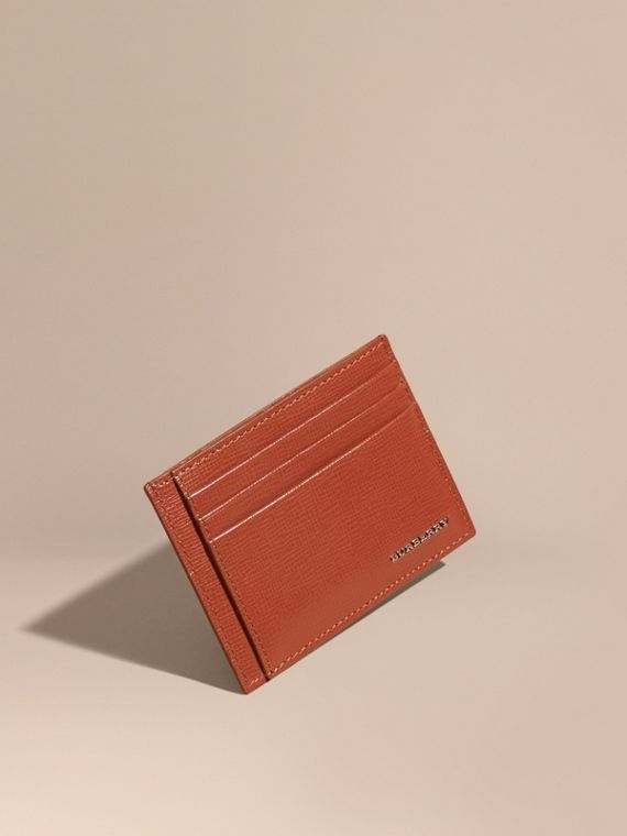 London Leather Card Case Burnt Sienna