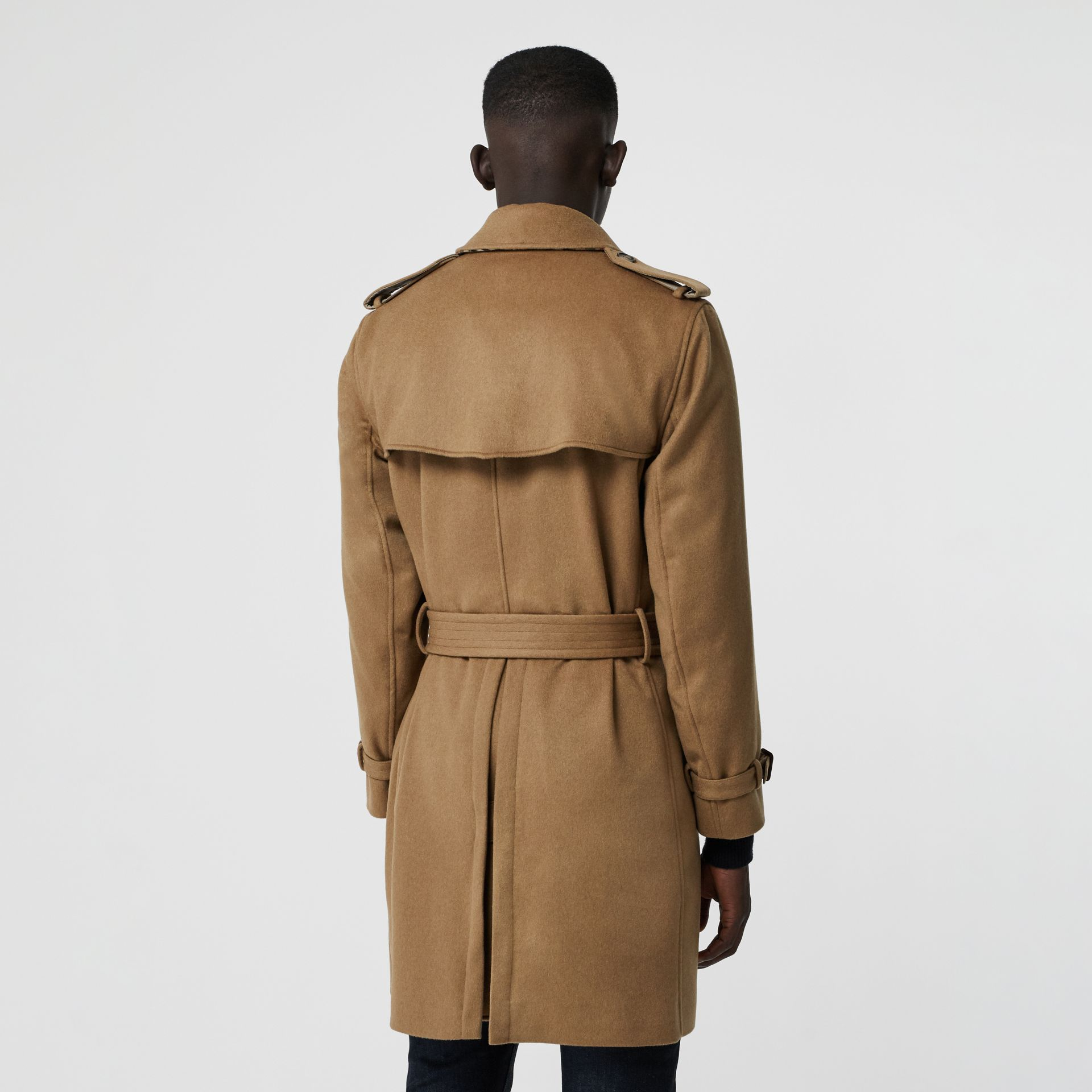 Cashmere Trench Coat in Camel - Men | Burberry Australia - gallery image 2