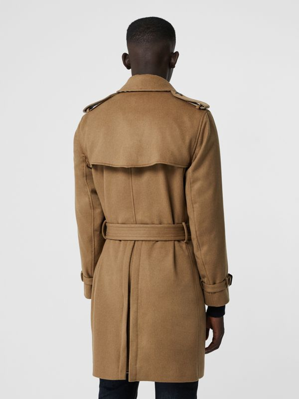 Cashmere Trench Coat in Camel - Men | Burberry Australia - cell image 2
