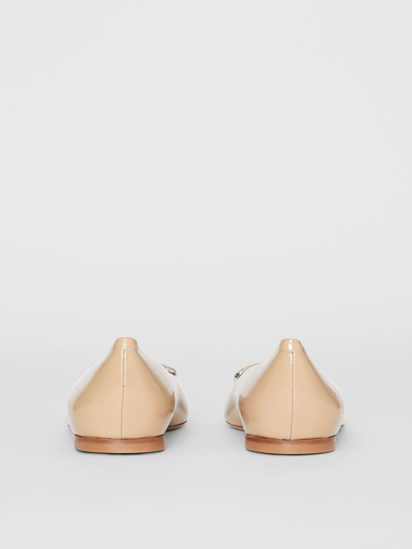 The Leather D-ring Flat in Nude Blush - Women | Burberry - cell image 3