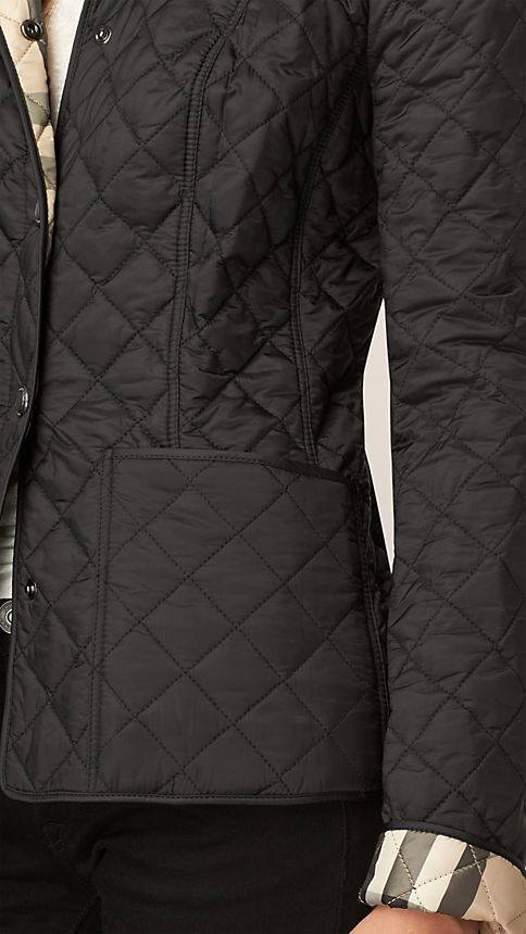 Black Diamond Quilted Jacket Black - Image 4