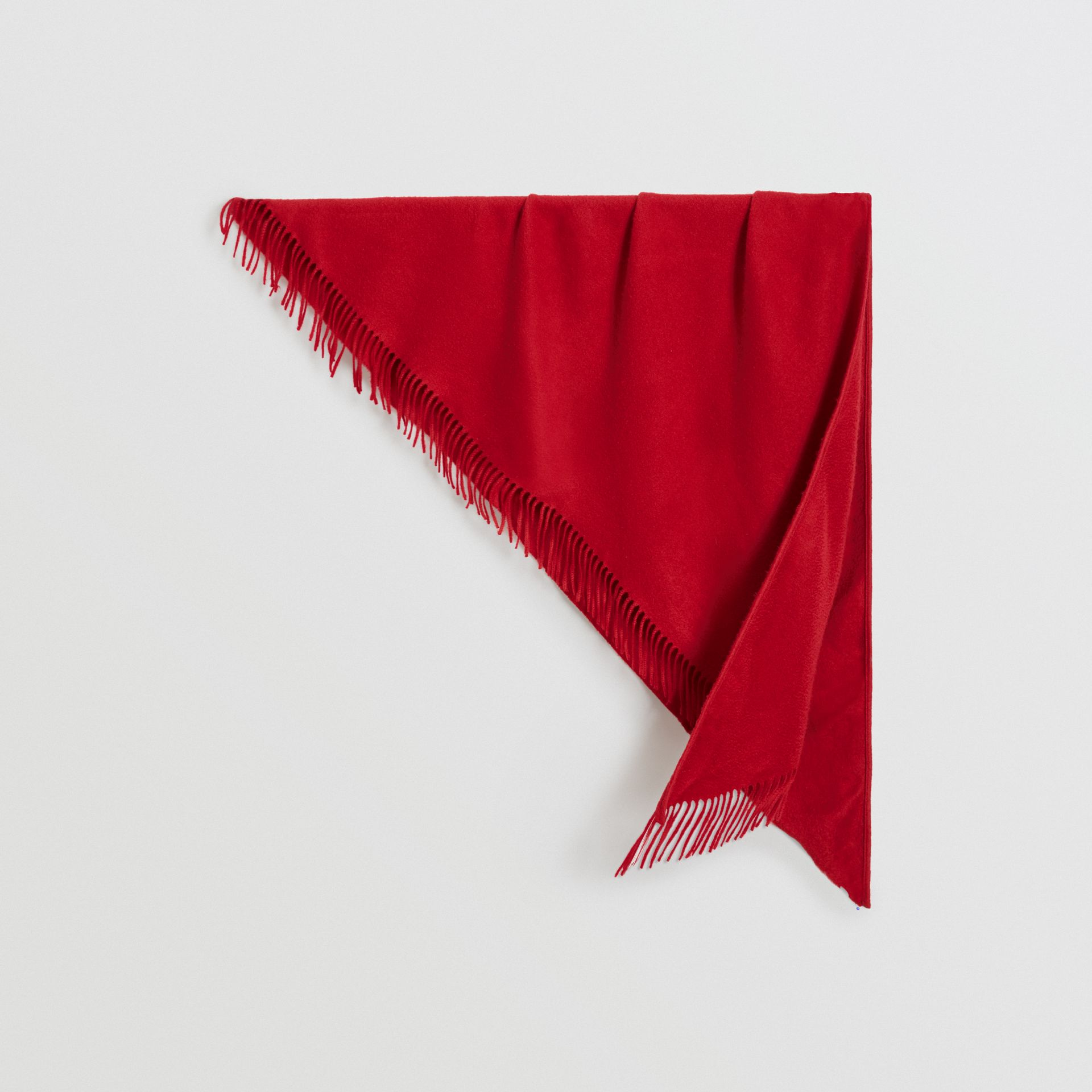 The Burberry Bandana in Embroidered Cashmere in Parade Red | Burberry United States - gallery image 0