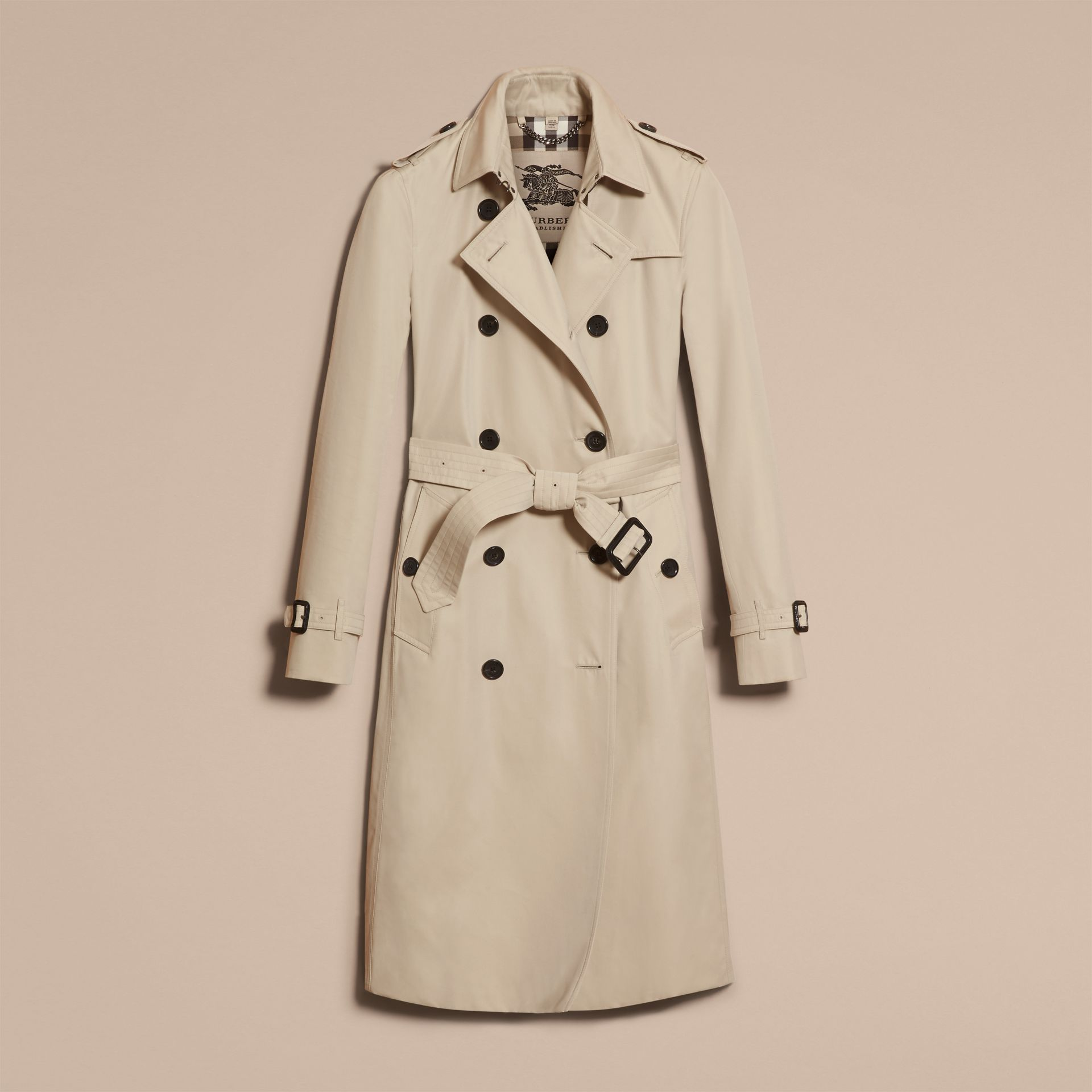 Stone The Kensington – Extra-long Heritage Trench Coat Stone - gallery image 4